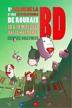 Affiche salon BD Roubaix 2013